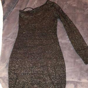 Sparkly one shoulder dress